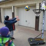 Basketballkorb und -ball